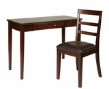 Tucson 2 pc Nesting Table with Nail Head Accents in Dark Espresso by Office Star