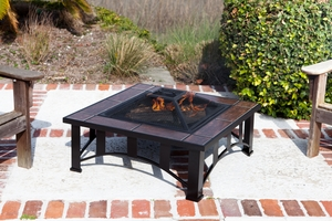 Turin Fire Pit, Illuminated And Magnificent Heating Utility by Well Travel Living
