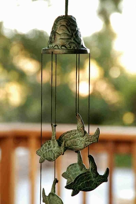Turtle Wind Chime To Decor Garden or indoor spaces With Musical Blend Brand SPI-HOME