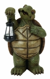 Turtle With Led Lantern Garden Decor Statue Sculpture Brand Woodland