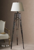 Tustin Floor Lamp With Unique Tripod Base That Makes It Special Brand Uttermost