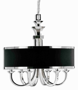 Tuxedo 6 Light Chandelier With Sleek Silver Arms Brand Uttermost