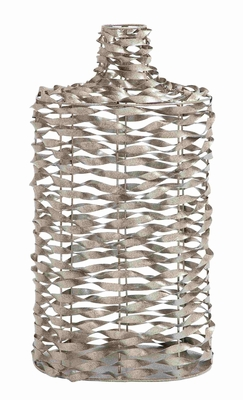 Twisted Metal Wire Classy and Elegant Vase Brand Benzara