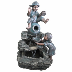 Two Children Playing On An Overflowing Vase A Great Garden Decor Upgrade Brand Domani
