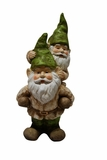 Two Gnomes Playing Garden Statue by Alpine Corp