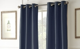 Two Packs of Indigo Shade Black Out Curtains