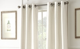 Two Packs of Ivory Colored Black Out Curtain
