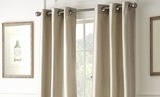 Two Packs of Taupe Colored Black Out Curtains
