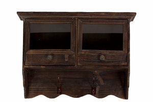 Two Sectioned Alluring Manhattan's Wooden Cabinet