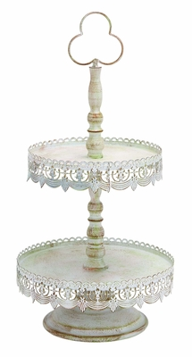 Two Tier Treat Tray As Antique Victorian Decorative Brand Woodland