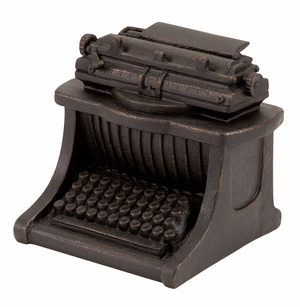 Typewriter Art Polystone Antiqued Typewriter Sculpture Brand Woodland