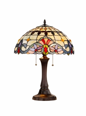 Umbrella Tiffany- Styled Striking Victorian Table Lamp by Chloe Lighting