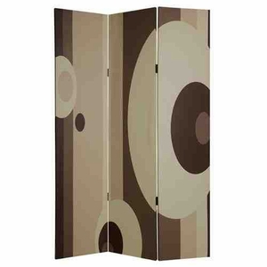 Umbria Screen, 3 Panel Canvas Screen, 48 Inch L x 72 Inch H Brand Screen Gems