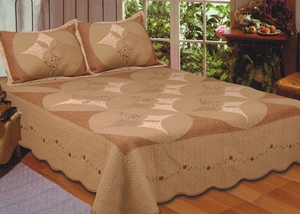 Unchained Melody Quilt, King Size 108 Inch X 90 Inch Handmade Quilts by American Hometex