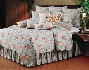Under The Sea Nautical Quilt Oversize Queen Bedding Ensembles Brand C&F