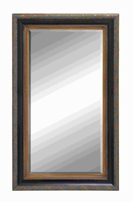 "Unique 58""H Wood Beveled Mirror with Embossed Patternson Frame Brand Woodland"