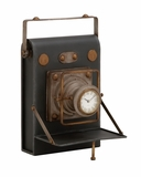 Unique and Antique Camera Themed Desk Clock by Woodland Import