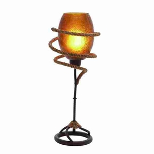 "Unique and Attractive 21"" Metal Rope Table Lamp with Royal Look Brand Woodland"