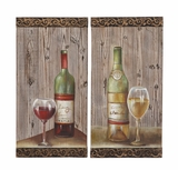 Unique and Attractive Assorted Set of Two Wall Panel by Woodland Import