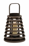 Unique and Attractive Basket Shaped Lantern by Woodland Import