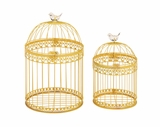 Unique and Attractive Set of 2 Acrylic Bird Cages by Woodland Import