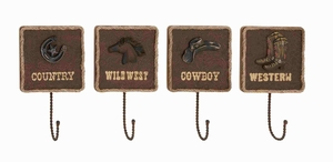 Unique and Classy American Cowboy Themed Wall Hook D�cor Brand Benzara