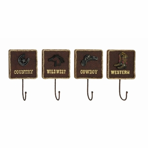 Unique and Classy American Cowboy Themed Wall Hook D?cor Brand Benzara