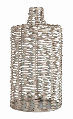 Unique and Classy Twisted Metal Wire Vase Brand Benzara