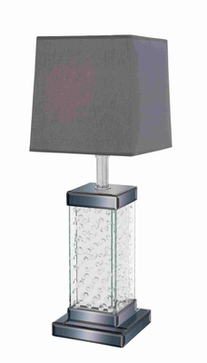 Unique and Elegant Wooden Glass Table Lamp Brand Benzara