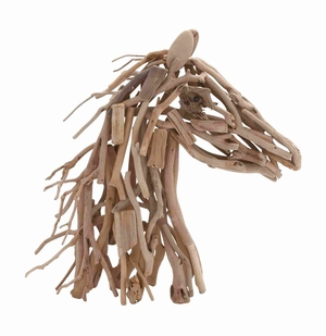 Stylish and Unique  Wooden Horse with Creative & Unique Design - 69487 by Benzara
