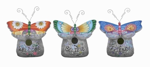 Unique Birdhouse 3 Assorted Crafted with Fine Attention To Detail Brand Woodland