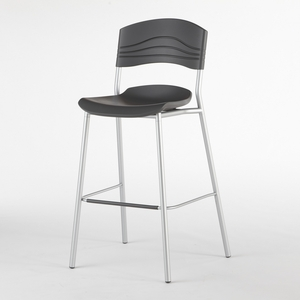 Unique Caf�Works Bistro Stool, Graphite by Iceburg Enterprises