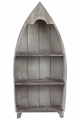 Unique Cone Shaped Wooden Authentic Shelf by Urban Trends Collection