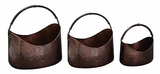 Unique Copper Metal Planters in Antiqued Finish - Set of 3 Brand Woodland
