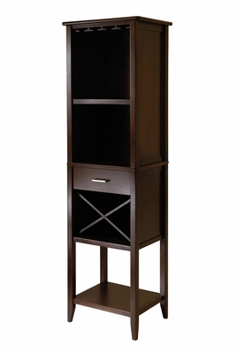 Unique Designed, Adorable Palani Wine Tower by Winsome Woods
