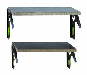 Unique Do It Yourself Tape Measure Shelf Set in Steel Alloy Brand Woodland