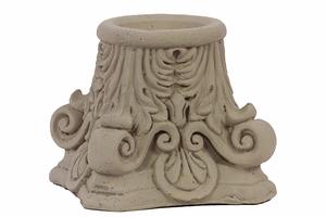 Unique & Elegantly Carved Cement Candle Holder in Sandstone