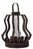 Unique & Extraordinary Wooden Lantern w/ Beautiful Curve in Black