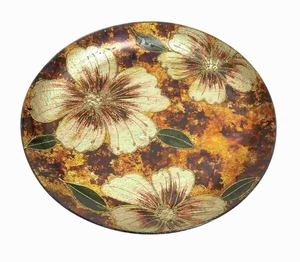 Unique Glass Charger Plate with Attractive Floral Design  12 PCS Brand Woodland