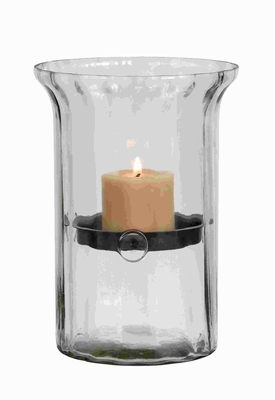 Unique Glass Metal Candle Holder Clear Case on The Outside Brand Woodland