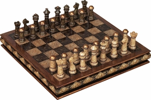 Unique Marble Chess Set With Game Board - Great For Gift Brand Woodland