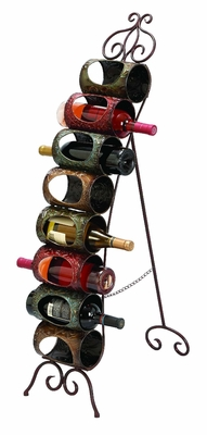 "Unique Metal Floor Wine Rack Wine Bottle Holder 40""H Brand Woodland"