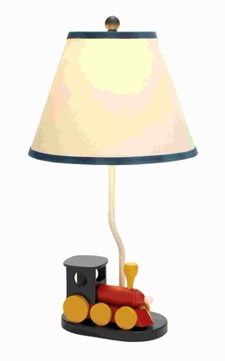 Unique Metal Table Lamp with miniature toy train at the bottom Brand Woodland