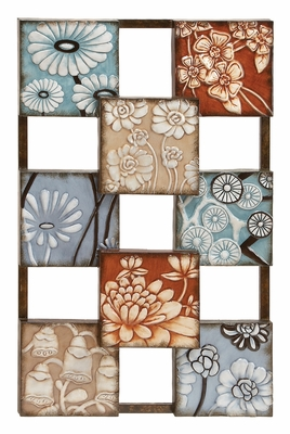 Unique Metal Wall Decor in Multi Color with Floral Design Brand Woodland