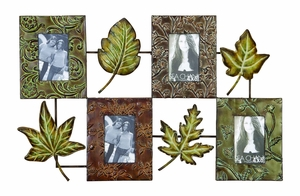 Unique Metallic Wall Picture Frame with Elegant Leaf Design Brand Woodland