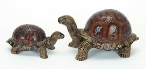 Unique Mosaic Turtle Statue Sculpture Decor with Detailing Brand Woodland