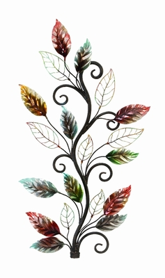 Unique Smooth Floral Branch Metal Piece Wall Decor Sculpture Brand Woodland