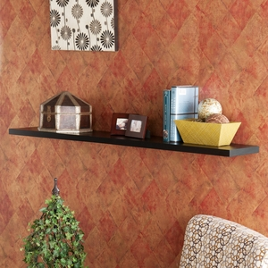 Unique Styled Aspen Floating Shelf Black by Southern Enterprises