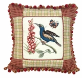 Unique Styled Fascinating Sunbird Petit Point Pillow by 123 Creations