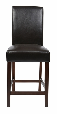 Unique Styled Parsons Counter Stool with Faux Leather Seat by Office Star